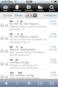iPhone Screenshot Mail Webclient